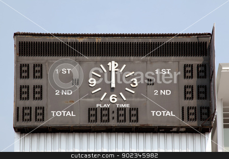 traditional score board at stadium stock photo, traditional score board at stadium by Vichaya Kiatying-Angsulee