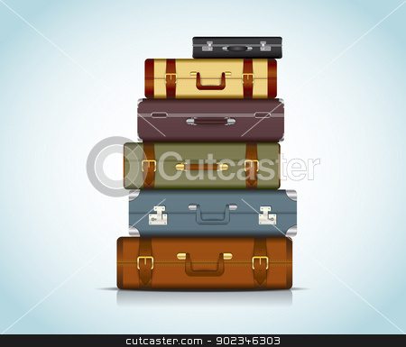 Travel Suitcases stock vector clipart, This image is a vector file representing a collection of travel suitcases. / Travel Suitcases by Bagiuiani Kostas