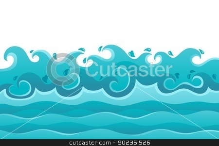 Waves theme image 6 stock vector clipart, Waves theme image 6 - vector illustration. by Klara Viskova