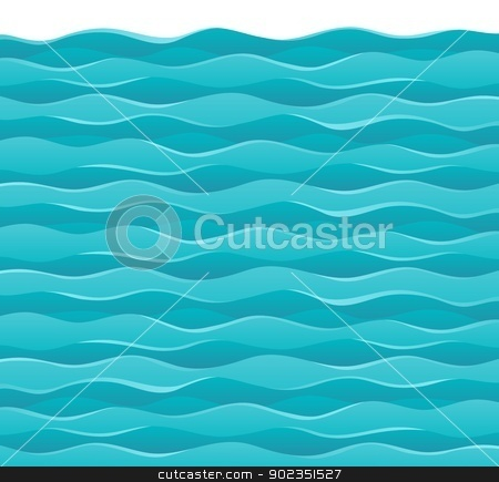 Waves theme image 7 stock vector clipart, Waves theme image 7 - vector illustration. by Klara Viskova