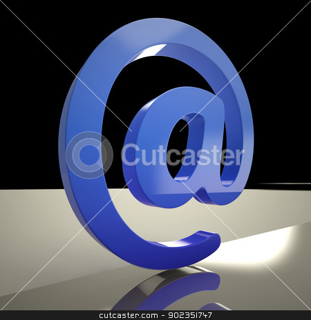 At Sign Means Communication Internet And Mail stock photo, At Sign Meaning Communication Internet And Mail by stuartmiles