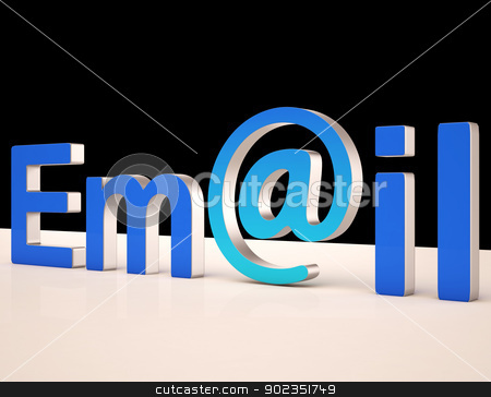 E-mail Letters Shows Correspondence on Web stock photo, E-mail Letters Showing Online Correspondence on Web by stuartmiles