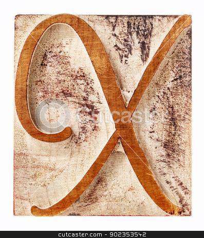 ornamental letter X in wood type stock photo, ornamental letter X - script font - isolated letterpress wood type printing block by Marek Uliasz