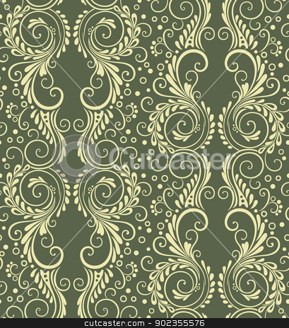 Abstract decorative seamless floral background stock vector clipart, Abstract decorative floral seamless background for wallpaper etc. by Allaya