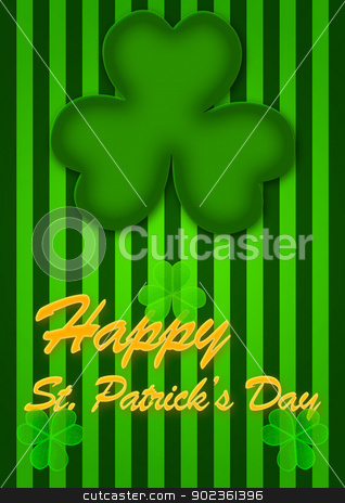 St Patricks Day Abstract background stock photo, St Patricks Day Abstract background whith three-leaf clover by Anatolii Vasilev