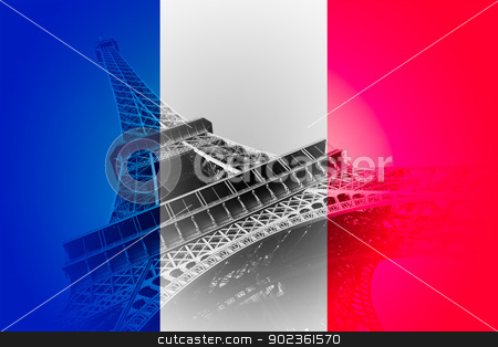 Flag of France stock photo, Flag of France by B.F.