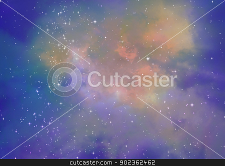 Being shone nebula stock photo, Far being shone nebula and star field against space by Anatolii Vasilev
