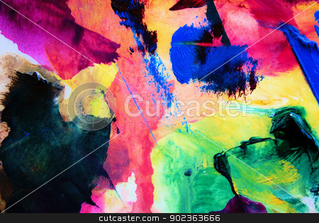 Abstract Art stock photo, Artist abstract painting by Javier Correa