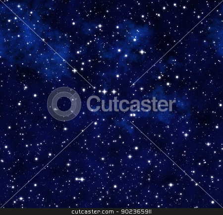 starry sky at night stock photo, outer space or starry sky at night by Phil Morley
