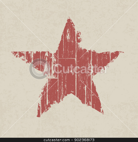 Grunge red star. Vector, EPS10. stock vector clipart, Grunge red star. Vector, EPS10. by pashabo