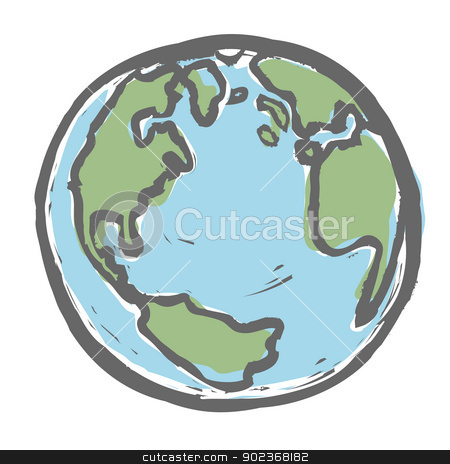 Hand drawn earth. Vector, EPS8 stock vector clipart, Hand drawn earth. Vector, EPS8 by pashabo