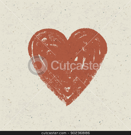 Heart on paper texture. Vector, EPS10 stock vector clipart, Heart on paper texture. Vector, EPS10 by pashabo