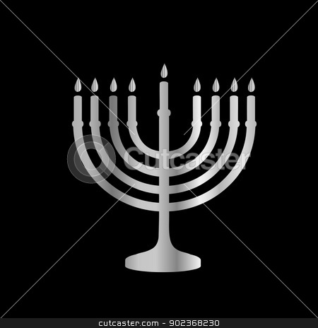 Judaism Menorah stock vector clipart, 	Judaism Menorah by DoReMe