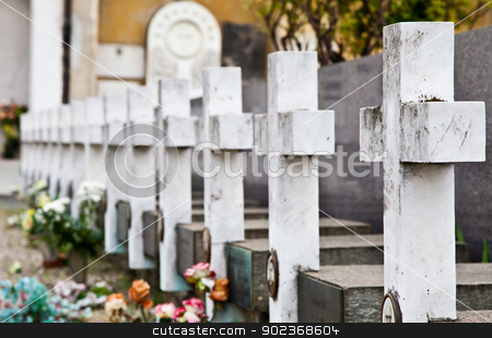 Cemetery architecture - Europe stock photo, Collection of the most beautiful and moving architectures examples in European cemeteries by Perseomedusa