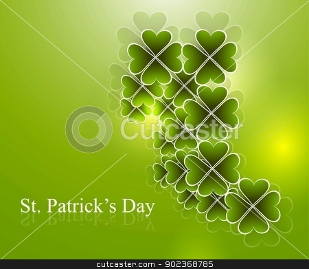 Abstract beautiful saint patricks day vector illustration  stock vector clipart, Abstract beautiful saint patricks day vector illustration  by bharat pandey