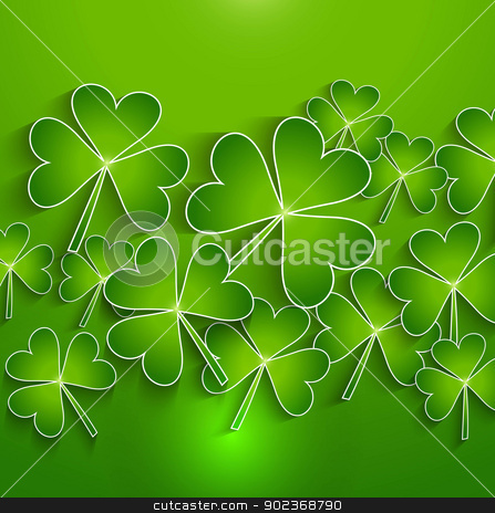 St. Patrick's Day green bright colorful background presentation  stock vector clipart, St. Patrick's Day green bright colorful background presentation Vector  by bharat pandey