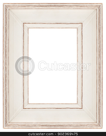 Stylish white Frame  stock photo, Stylish white Frame isolated on white background. by Homydesign 