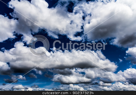 Cumulus clouds stock photo, A lot of Amazing cumulus clouds, Canada by Peter Kolomatski
