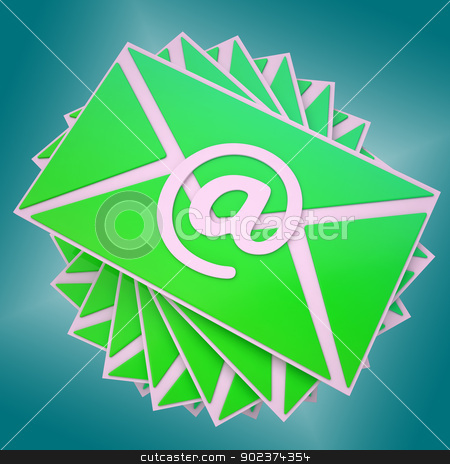 Email Envelope Shows Communication Worldwide Through WWW stock photo, Email Envelope Showing Communication Worldwide Through WWW by stuartmiles