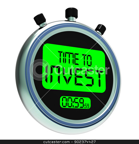 Time To Invest Message Showing Growing Wealth And Savings stock photo, Time To Invest Message Shows Growing Wealth And Savings by stuartmiles