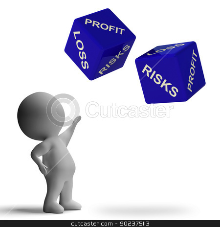 Profit Or Loss Dice Showing Returns For Business stock photo, Profit And Loss Dice Showing Returns For Business by stuartmiles