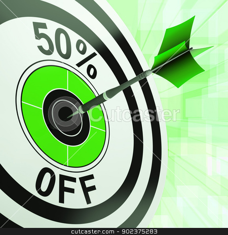 50 Percent Off Shows Discount Promotion Advertisement stock photo, 50 Percent Off Showing Discount Promotion Retail Purchasing Advertisement by stuartmiles