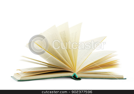 open book  stock photo, open book isolated on a white background by Vitaliy Pakhnyushchyy