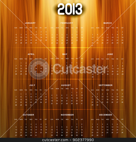 2013 calendar bright colorful shiny wood texture vector  stock vector clipart, 2013 calendar bright colorful shiny wood texture vector  by bharat pandey