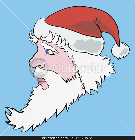 colorful  picture with santa claus stock vector clipart, vector colorful Illustration with santa claus for your design by valeo5