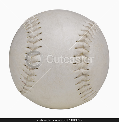 Softball stock photo, Softball isolated on white, includes clipping path by Bryan Mullennix