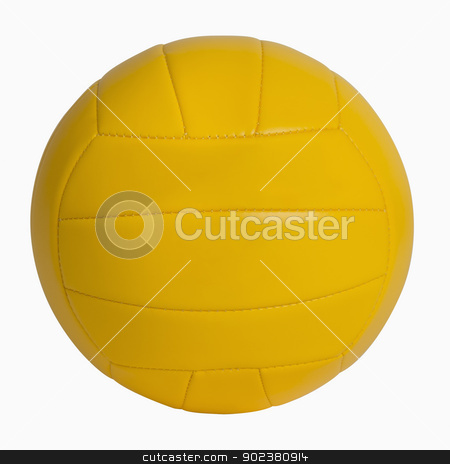 Yellow Volleyball stock photo, Yellow volleyball isolated on white, includes clipping path by Bryan Mullennix
