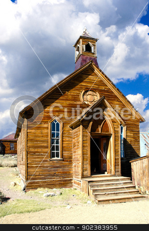 Church in Bodie State Historic Park, California stock photo, The old Methodist Church in Bodie State Historic Park, by Don Fink