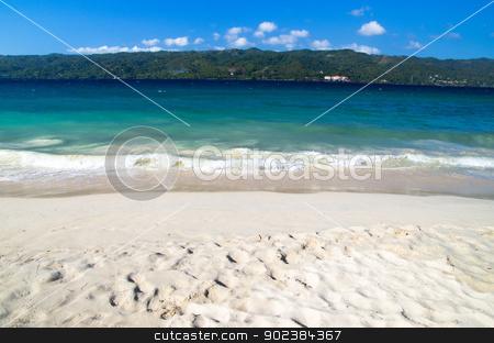 sea beach stock photo, beautiful blue caribbean sea beach by Vitaliy Pakhnyushchyy