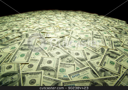money stock photo, american dollars arranged at the background by Vitaliy Pakhnyushchyy
