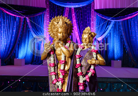 Hindu Deities in front of mandap at Indian wedding stock photo, Image of Hindu Deities in front of mandap at Indian wedding by Greg Blomberg