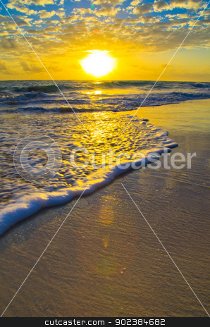 sunset  stock photo, Beautiful sunset above the sea by Vitaliy Pakhnyushchyy