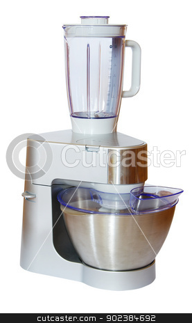 blender stock photo, new blender isolated on a white background by Vitaliy Pakhnyushchyy