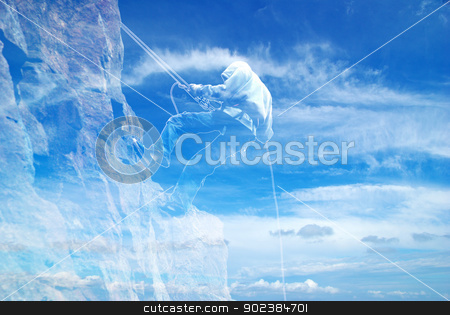 climb on a mountain stock photo, images of climb on a mountain by Vitaliy Pakhnyushchyy