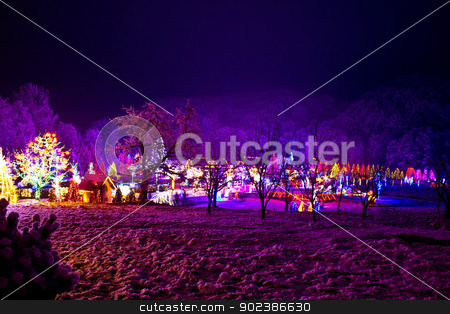 Christmas village in the forrest valley stock photo, Christmas village in the forrest valley, Croatia by xbrchx