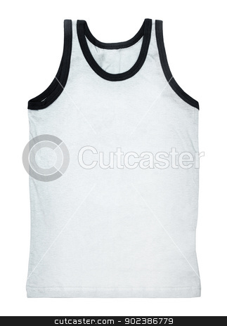 Tank top isolated on white stock photo, White tank top without a pattern isolated on white background by Alexey Romanov