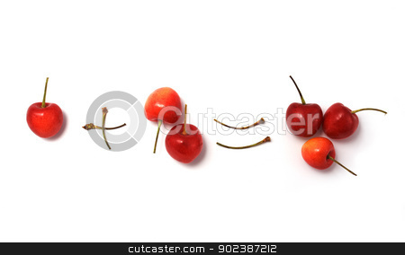 Mathematical sweet cherry stock photo, The mathematical formula from a sweet cherry by Alexey Romanov