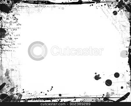 Grunge retro style frame for your projects stock photo, Highly detailed grunge frame  with space for your text or image. Great grunge layer for your projects. by GPimages