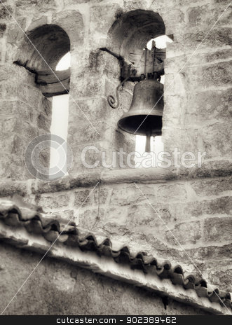 Church bell, artistic toned photo stock photo, Church bell, artistic toned photo by Gordan Poropat