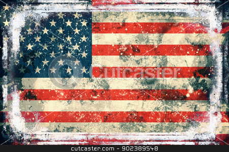 Flag of USA stock photo, Computer designed highly detailed grunge illustration - Flag of USA.. by GPimages