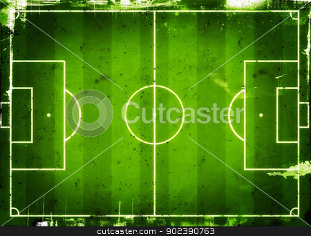 Soccer field stock photo, Football (Soccer Field) illustration with  space for your text by GPimages