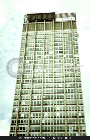 Building in Sao Paulo stock photo, Retro style image of a Building in Downtown Sao Paulo, Brazil.  by Michael Osterrieder