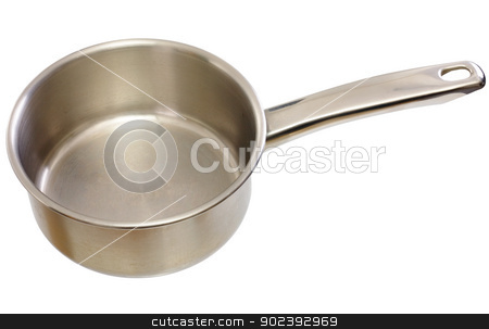 Kitchen ladle stock photo, Metal kitchen ladle on a white background by Alexey Romanov
