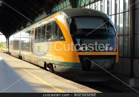 ODEG train stock photo, German ODEG Siemens Desiro train at station by Oxygen64