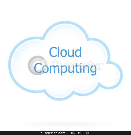 Cloud Computing Icon stock vector clipart, Cloud Computing Technology Icon by Vadym Nechyporenko