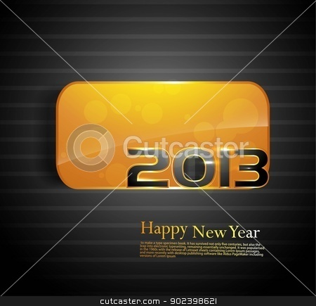 2013 Happy new year golden colorful shiny vector stock vector clipart, 2013 Happy new year golden colorful shiny vector by bharat pandey